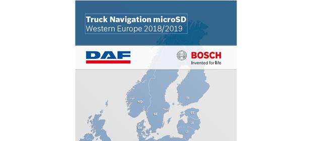 Kartenaktualisierungen für das DAF Truck Navigation Radio jetzt verfügbar